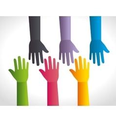 Business teamwork and leadership vector image