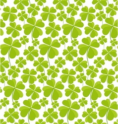 Clovers seamless pattern St Patricks Day vector image vector image