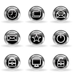 Glossy icon set 21 vector image
