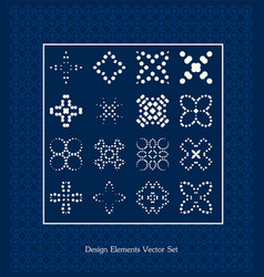 pattern elements set design signs vector image