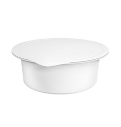 realistic white mock up blank plastic container vector image