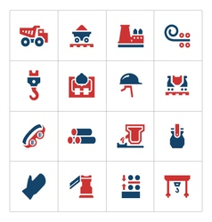 Set color icons of metallurgy vector image vector image