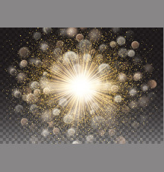 transparent glow light effect star sparkles vector image vector image