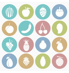 white icons fruit vector image vector image