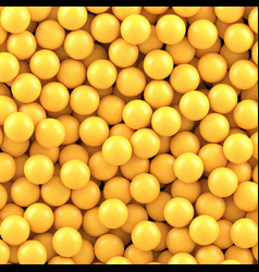 yellow balls background vector image