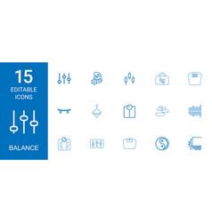 15 balance icons vector