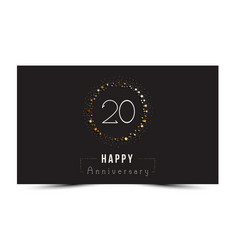 20 years happy anniversary card vector