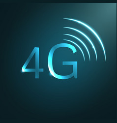 4g sign icon vector