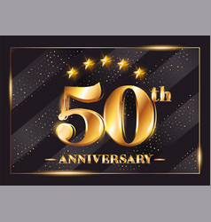 50 years anniversary celebration logotype 50th vector image