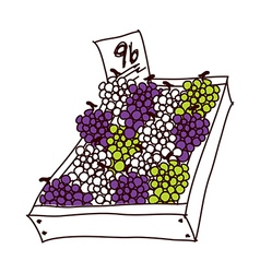 A truft of grapes vector