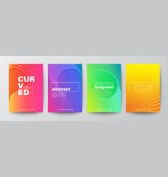 Abstract curved shape on bright vivid gradient vector