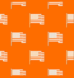 american flag pattern seamless vector image