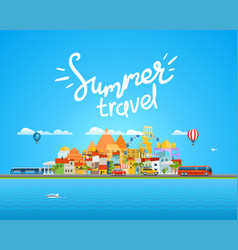 Around world travelling concept vector