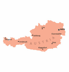 austria isolated map vector image