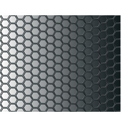 Black hexagon mesh on gray background design vector