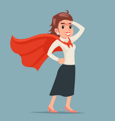 Brave female power super hero ready for action vector