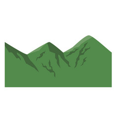 Cartoon green climbing in the mountains image vector