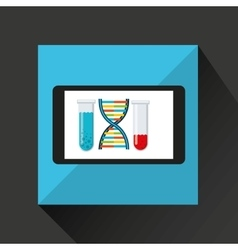 chemistry laboratory smartphone dna test tube vector image