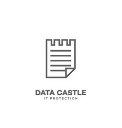 Data castle logo vector