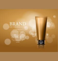 Design of cosmetics advertising vector