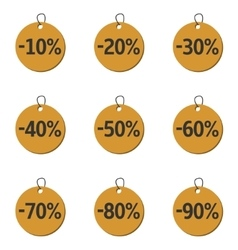 Discount price icons vector