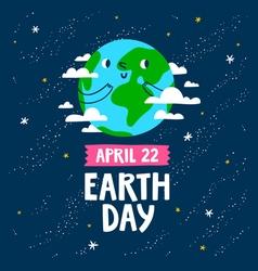 Earth day card vector