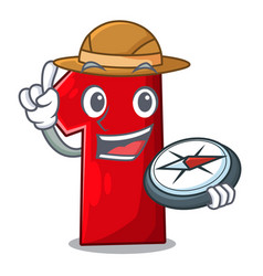 Explorer cartoon the number one for champion vector