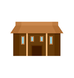 farm asia house icon flat style vector image