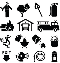 Fire fighters icon vector