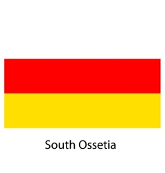 Flag of the country south ossetia vector image