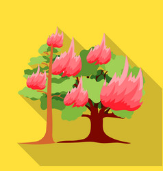 Forest fire icon in flat style for web vector
