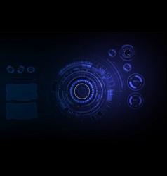 futuristic sci fi hi tech concept background vector image