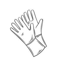 garden rubber gloves vector image