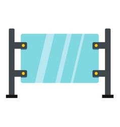 Glass gate icon isolated vector