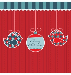 hanging decorations vector image