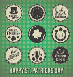 Happy St Patricks Day Labels vector image