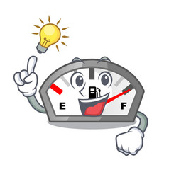 Have an idea gasoline indicator in the a mascot vector
