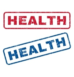 Health Rubber Stamps vector image