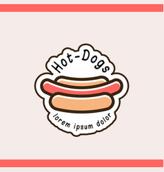 hot dog logotype template vector image