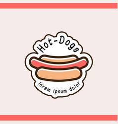 Hot dog logotype template vector