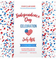 independence day celebration fourth july vector image