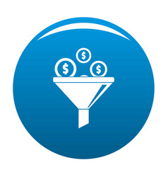 investment icon blue vector image