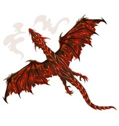 Lava dragon vector