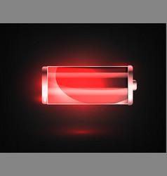 low battery battery charging status indicator vector image