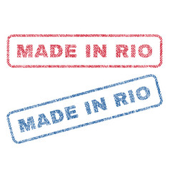 Made in rio textile stamps vector
