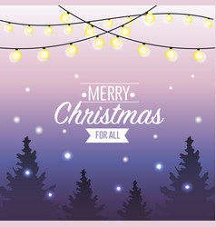 Merry christmas holiday event card vector