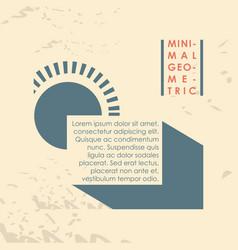 minimal geometric template label vector image