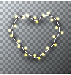 Modern garland heart on sample background vector