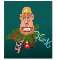 Monkey mask vector image