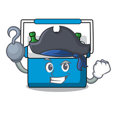 Pirate freezer bag character cartoon vector